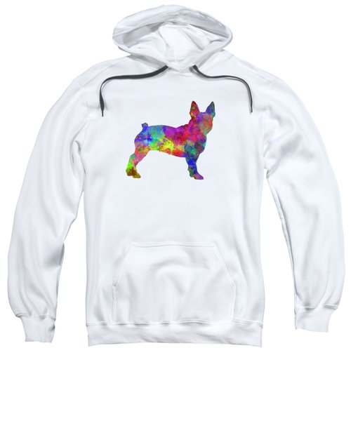 Boston Terrier 01 In Watercolor Sweatshirt