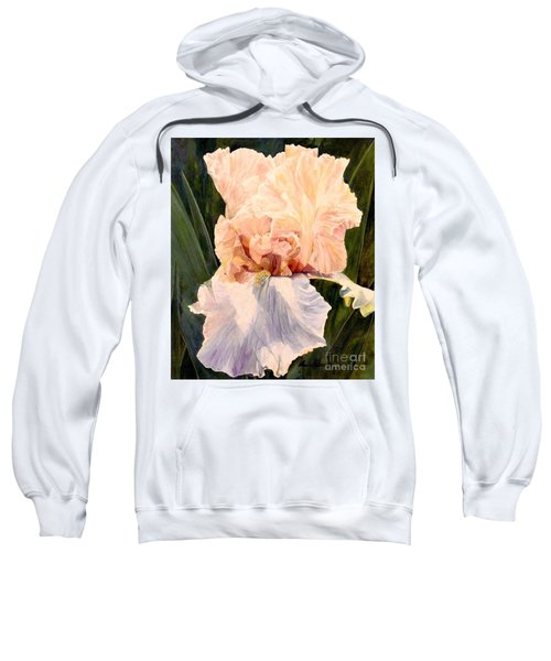 Botanical Peach Iris Sweatshirt