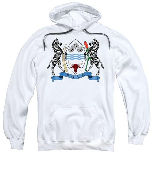 Botswana Coat Of Arms Sweatshirt by Movie Poster Prints