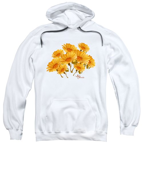 Bouquet Of Daisies Sweatshirt by Angeles M Pomata