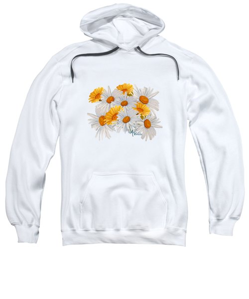 Bouquet Of Wild Flowers Sweatshirt by Angeles M Pomata