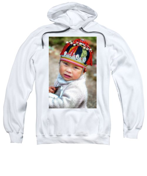 Boy With A Red Cap. Sweatshirt