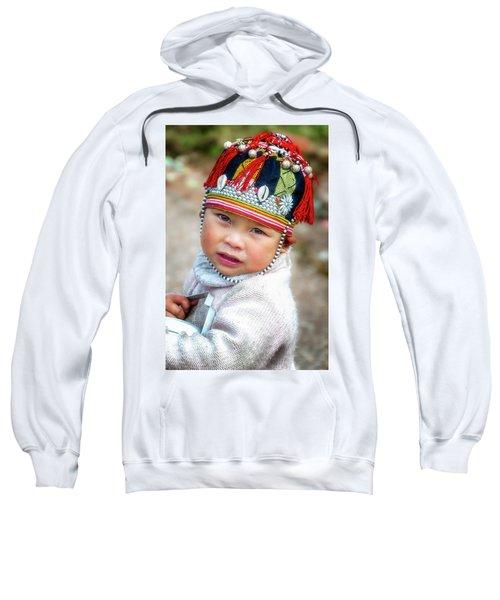 Boy With A Red Cap. Sweatshirt