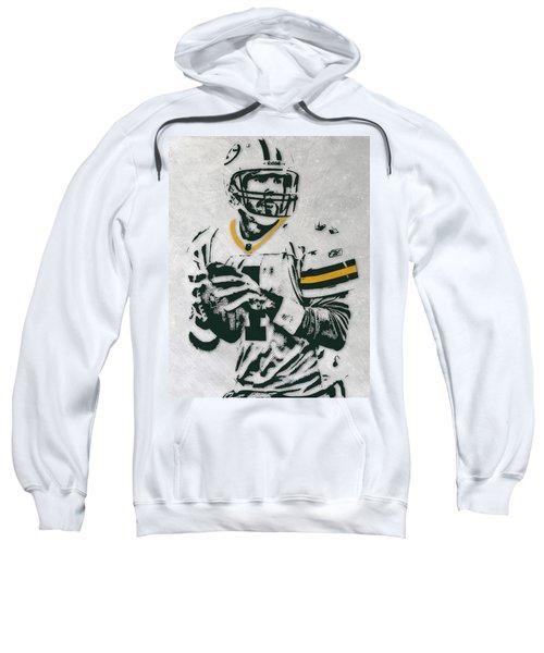 Brett Favre Green Bay Packers Pixel Art Sweatshirt