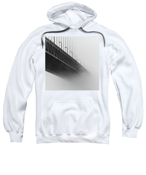 Sweatshirt featuring the photograph Bridge In The Fog by Stephen Holst
