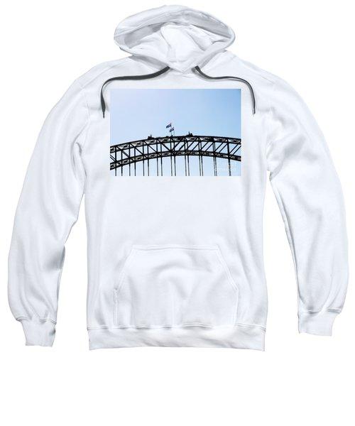 Sweatshirt featuring the photograph Bridge Walk by Stephen Mitchell
