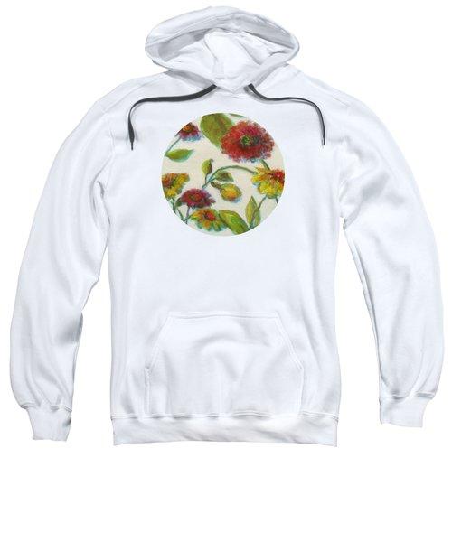 Bright Contemporary Floral  Sweatshirt