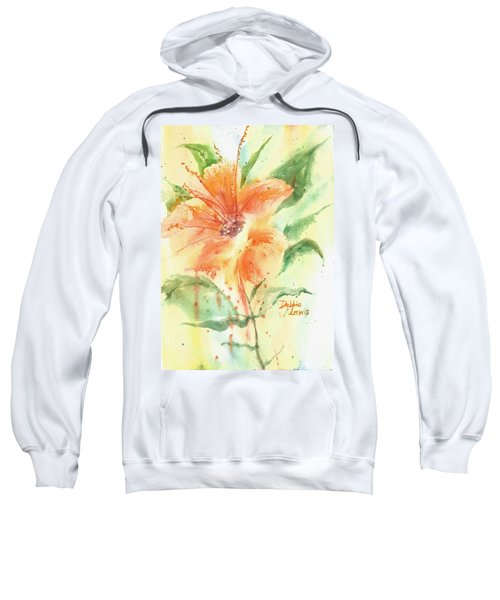 Bright Orange Flower Sweatshirt