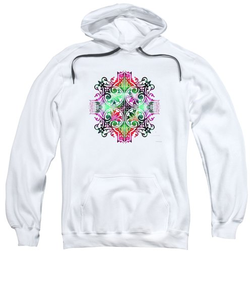 Bright Pattern Art - Color Fusion Design 9 By Sharon Cummings Sweatshirt