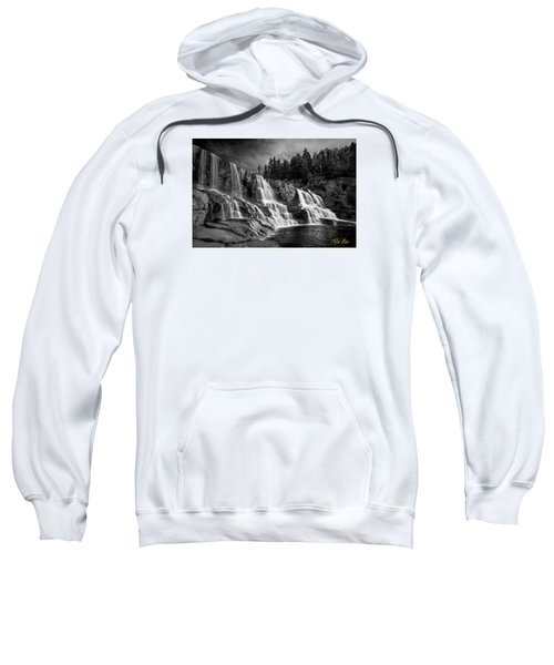 Sweatshirt featuring the photograph Brooding Gooseberry Falls by Rikk Flohr