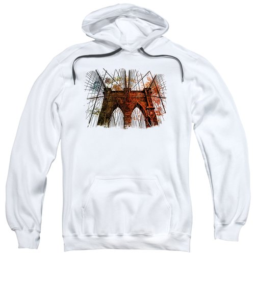 Brooklyn Bridge Art 1 Sweatshirt by Di Designs
