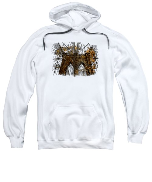 Brooklyn Bridge Earthy 3 Dimensional Sweatshirt by Di Designs
