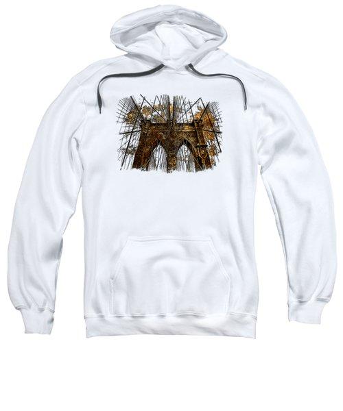 Brooklyn Bridge Earthy 3 Dimensional Sweatshirt