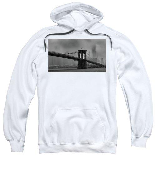 Brooklyn Bridge In A Storm 2 Sweatshirt