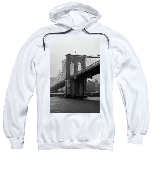 Brooklyn Bridge In A Storm Sweatshirt