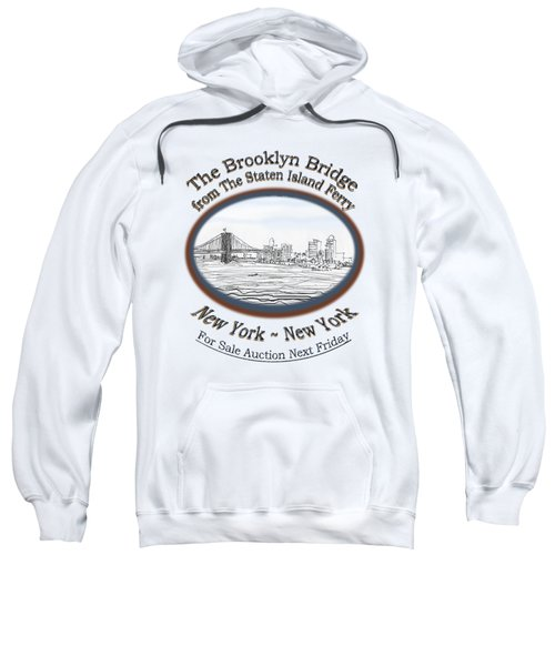 Brooklyn Bridge Sweatshirt by James Lewis Hamilton