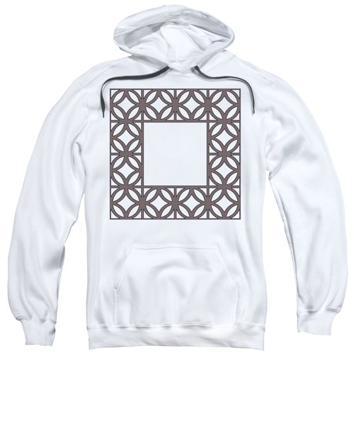 Brown Circles And Squares Sweatshirt