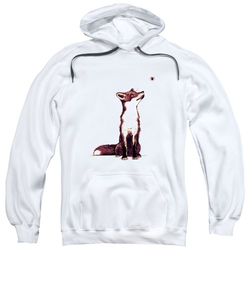 Brown Fox Looks At Thing Sweatshirt