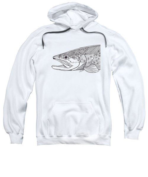 Brown Trout Sweatshirt by Jay Talbot