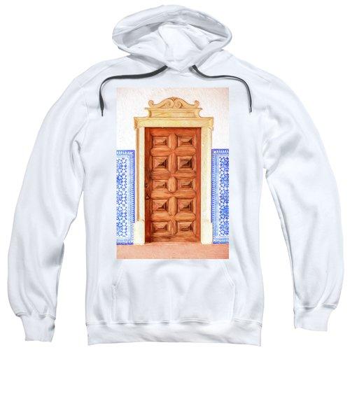 Brown Wood Door Of Old World Europe Sweatshirt