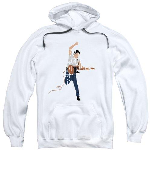 Bruce Springsteen Typography Art Sweatshirt
