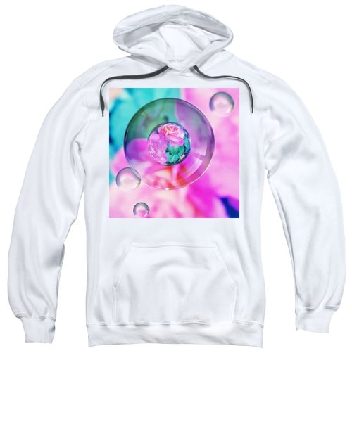 Bubble Roses Sweatshirt by Anna Porter