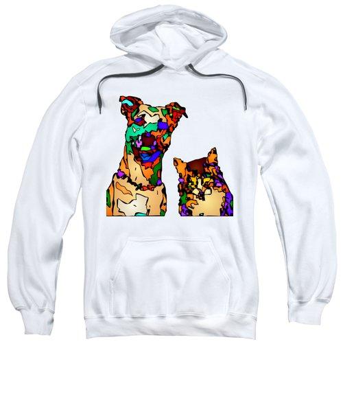 Buddies For Life. Pet Series Sweatshirt