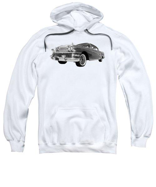 Buick Roadmaster 75 In Black And White Sweatshirt