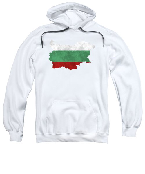 Bulgaria Map Art With Flag Design Sweatshirt