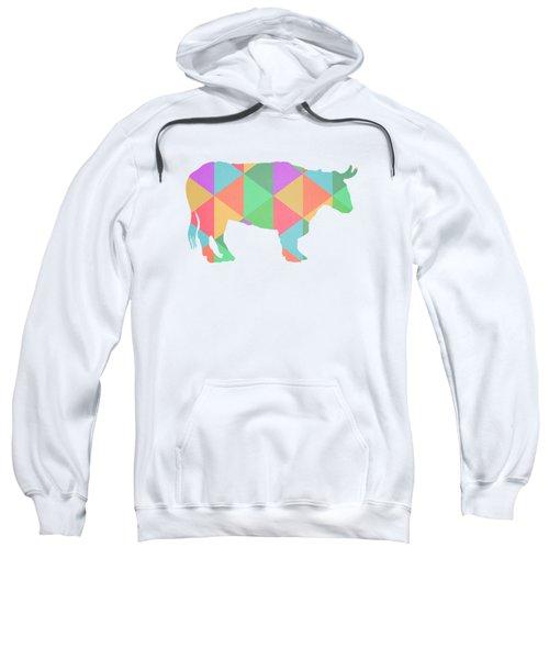 Bull Cow Triangles Sweatshirt by Edward Fielding