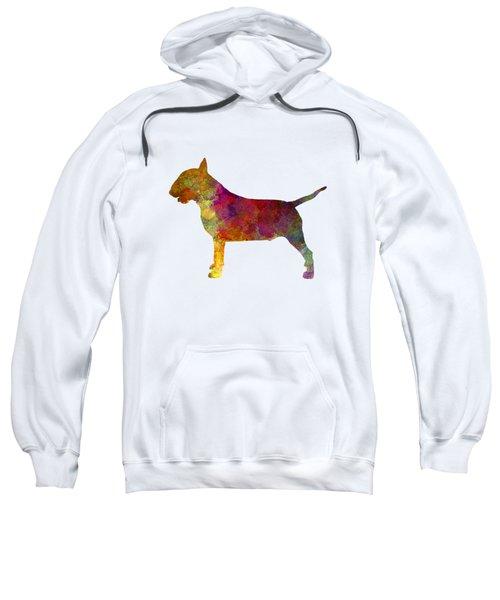Bull Terrier In Watercolor Sweatshirt by Pablo Romero