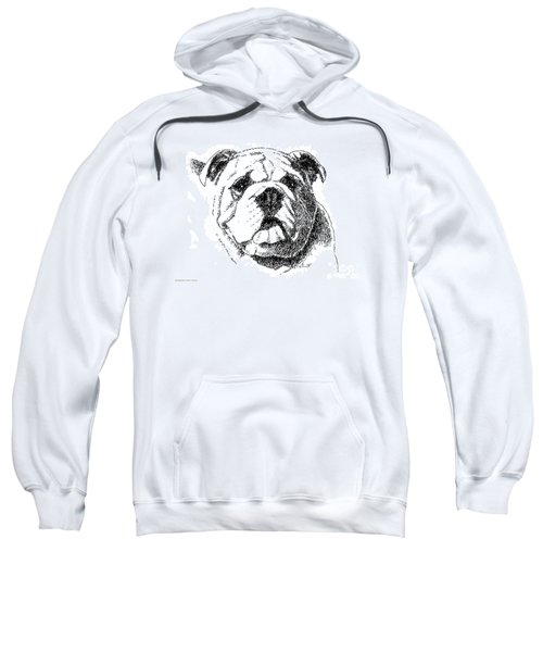 Bulldog-portrait-drawing Sweatshirt