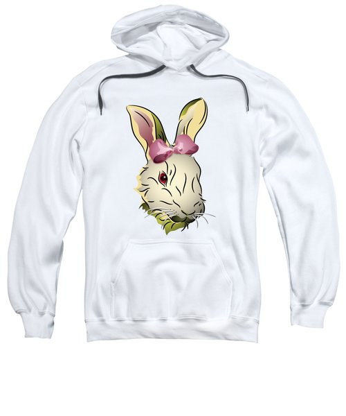 Bunny Rabbit With A Pink Bow Sweatshirt