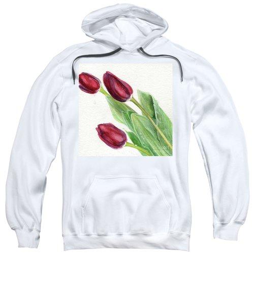 Burgundy Tulips Sweatshirt