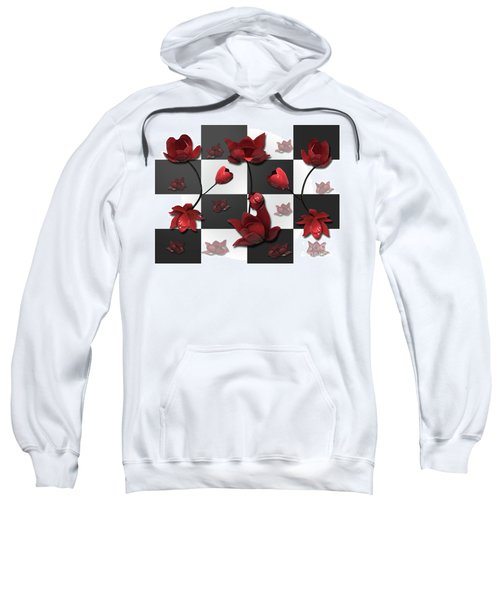 Burnt Crimson Flora Sweatshirt