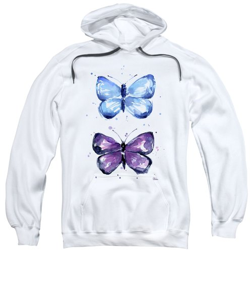 Butterflies Blue And Purple  Sweatshirt