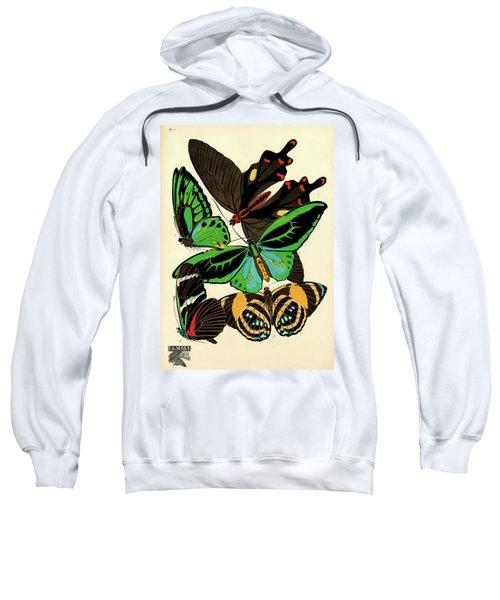Butterflies, Plate-1 Sweatshirt