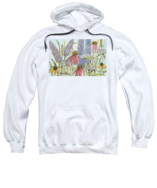 Butterfly Bush In Garden Sweatshirt