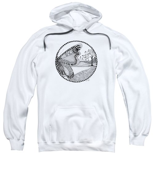 Sweatshirt featuring the drawing Butterfly Fantasy by Ana V Ramirez