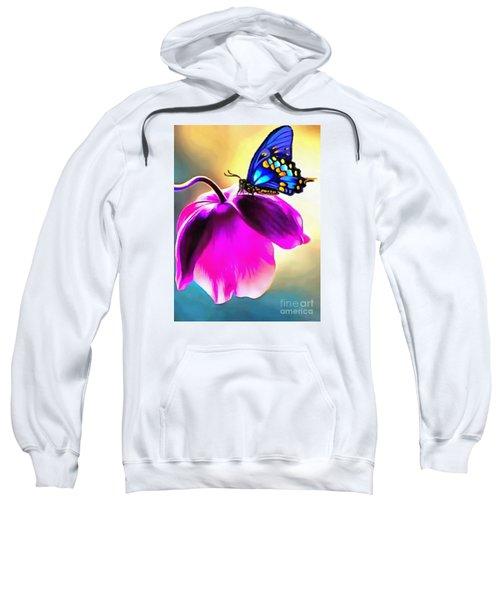 Butterfly Floral Sweatshirt