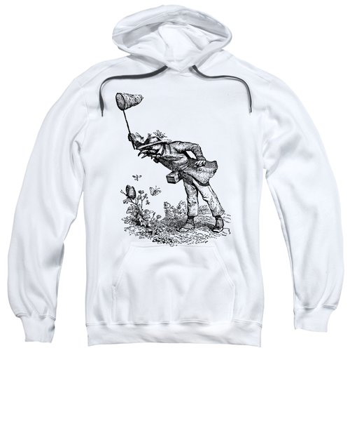 Butterfly Hunting Grandville Transparent Background Sweatshirt