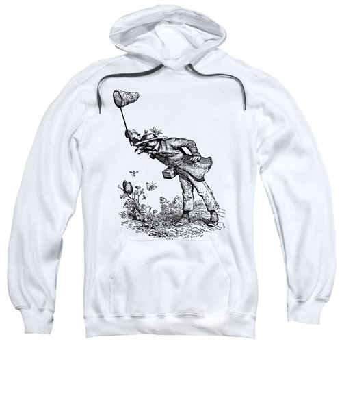 Butterfly Hunting Grandville Transparent Background Sweatshirt