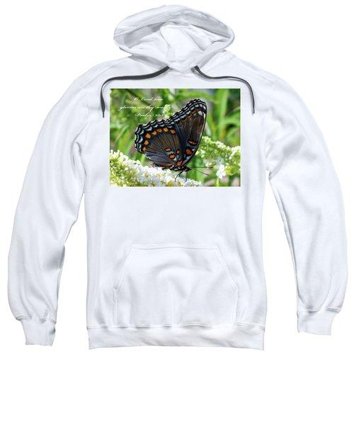 Butterfly Psalm 92 Scripture Sweatshirt