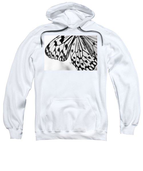 Butterfly Wings 3 - Black And White Sweatshirt