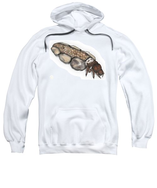 Caddisfly Larva Nymph Goeridae_silo_pallipes -  Sweatshirt