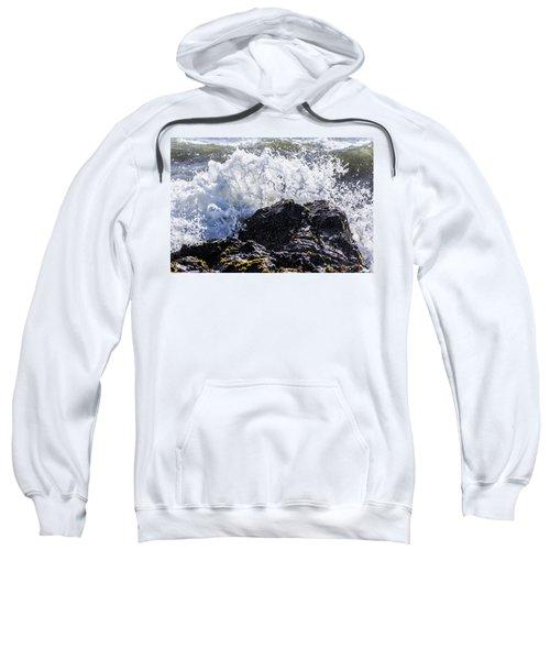 California Coast Wave Crash 4 Sweatshirt