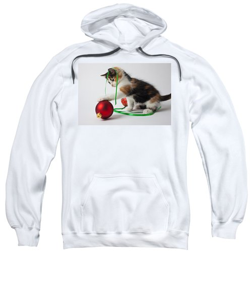 Calico Kitten And Christmas Ornaments Sweatshirt