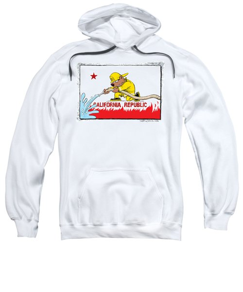 California Firefighter Flag Sweatshirt