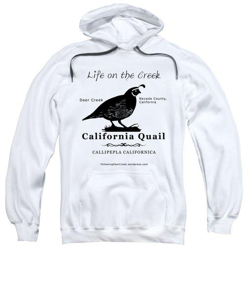 California Quail - White Sweatshirt