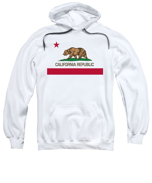 California Republic State Flag Authentic Version Sweatshirt by Bruce Stanfield